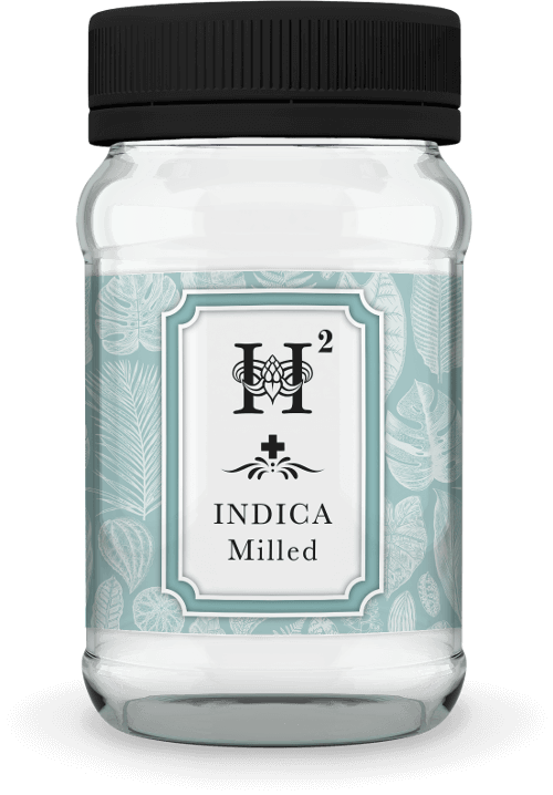 Hydropothecary H2 Indica Milled Medical Marijuana Jar