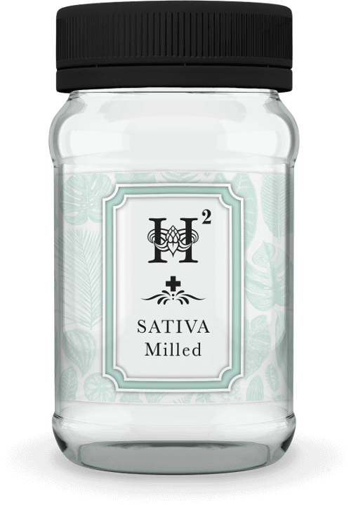 Hydropothecary H2 Sativa Milled Medical Marijuana Jar